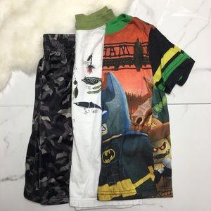 🎉Bundle little boy tops tees shorts B6